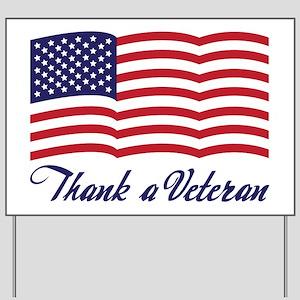 Thank A Veteran Yard Sign