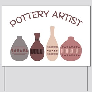 Pottery Artist Vases Yard Sign