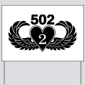 2-502 Black Heart Yard Sign
