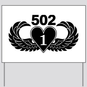 1-502 Black Heart Yard Sign