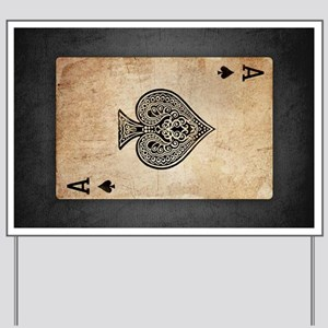 Ace Of Spades Yard Sign