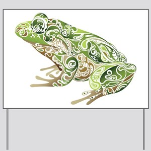 Filligree Frog Yard Sign