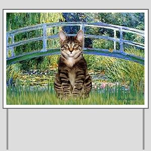 Bridge - Tabby Tiger cat 30 Yard Sign