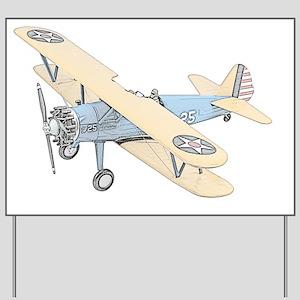 Stearman PT-17 Bi-Plane -Colored Yard Sign