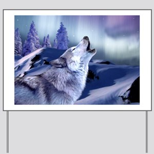 Winter Wolf Yard Sign