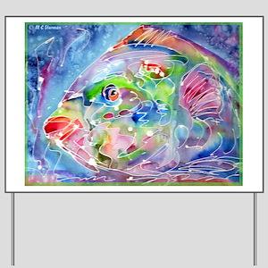 Fish, Colorful, Yard Sign