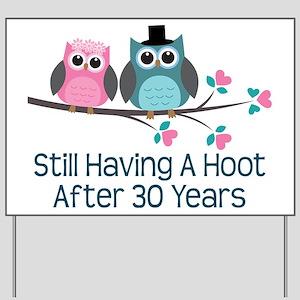 30th Anniversay Owls Yard Sign