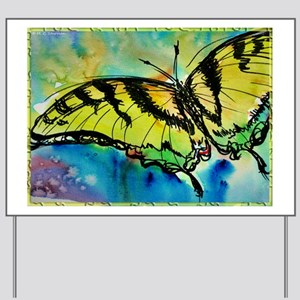 Butterfly Swallowtail butterfly art! Yard Sign