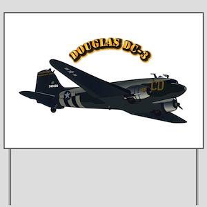 Douglas DC-3 - No Text Yard Sign