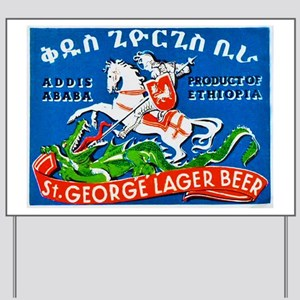 Ethiopia Beer Label 3 Yard Sign