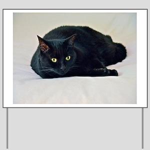 Black Cat! Yard Sign