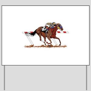 Jockey on Racehorse Yard Sign
