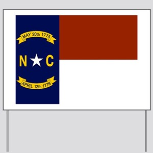 North Carolina United States Flag Yard Sign