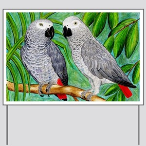 African Greys Yard Sign