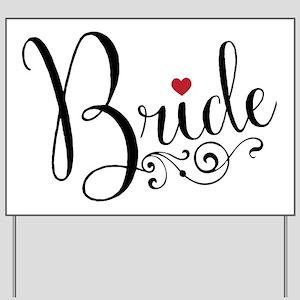 Elegant Bride Yard Sign