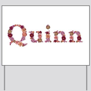 Quinn Pink Flowers Yard Sign