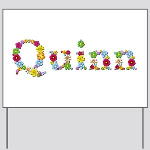 Quinn Bright Flowers Yard Sign