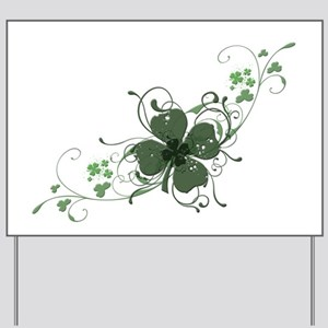 Elegant Shamrock Yard Sign