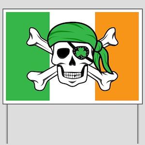 Irish Jolly Roger - Pirate Flag Yard Sign