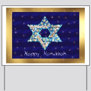 Gems and Sparkles For Hanukkah Yard Sign