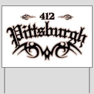 Pittsburgh 412 Yard Sign