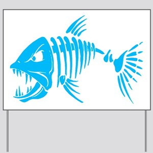 Pirate fish Yard Sign