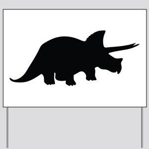 Triceratops Yard Sign