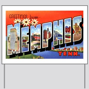 Memphis Tennessee Greetings Yard Sign
