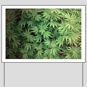 Marajuana Weed Pot Yard Sign