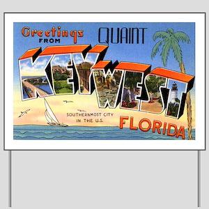 Key West Florida Greetings Yard Sign