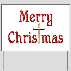 ChrisTmas Yard Sign