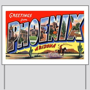 Phoenix Arizona Greetings Yard Sign