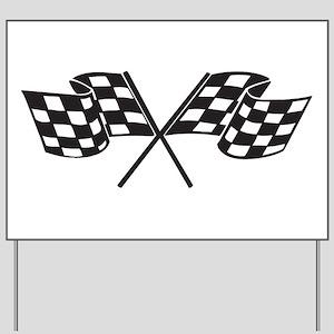 Checkered Flag, Race, Racing, Motorsport Yard Sign