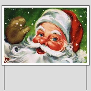 Vintage Santa Face 1 Yard Sign
