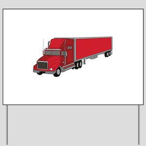 Semi-Truck 1 Yard Sign