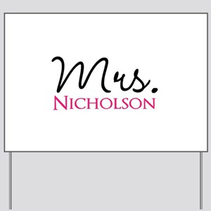 Customizable Name Mrs Yard Sign