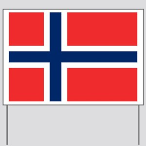 Flag of Norway Yard Sign