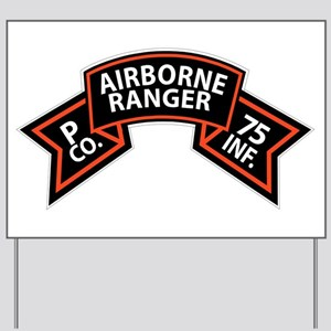 P Co 75th Infantry (Ranger) Scroll Yard Sign