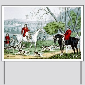 Fox chase - Throwing off - 1846 Yard Sign