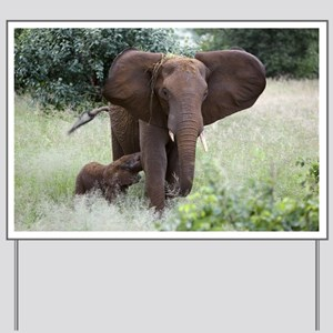 African elephants - Yard Sign