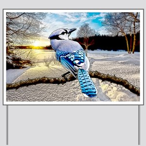 Blue Jay Sunrise Yard Sign