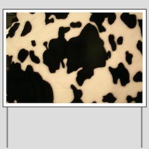 Dairy Cow Print Yard Sign