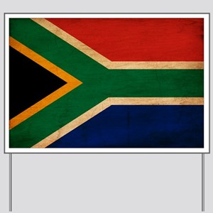 South Africa Flag Yard Sign