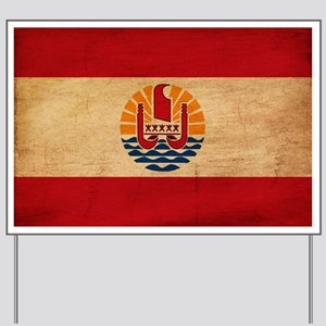 French Polynesia Flag Yard Sign