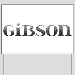 Gibson Carved Metal Yard Sign