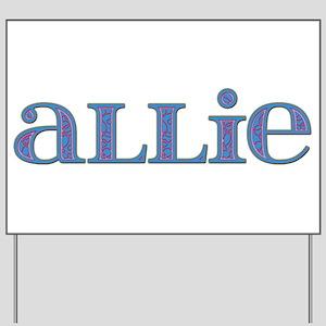 Allie Blue Glass Yard Sign