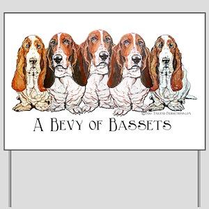 Basset Hound Bevy Yard Sign