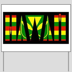 Hawai'i Kanaka Maoli Flag Yard Sign