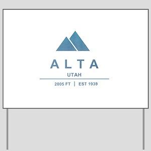 Alta Ski Resort Utah Yard Sign