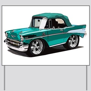 BabyAmericanMuscleCar_57BelR_Green Yard Sign